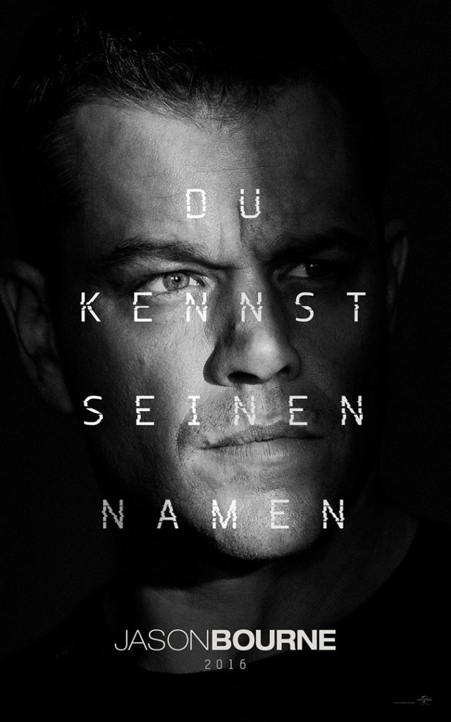 Jason Bourne Poster deutsch