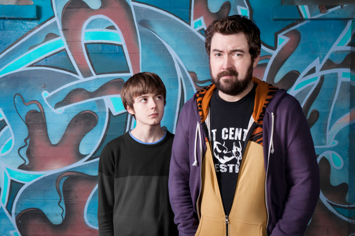 Picture Shows: Elliot Speller-Gillott as Errol and Nick Helm as Andy